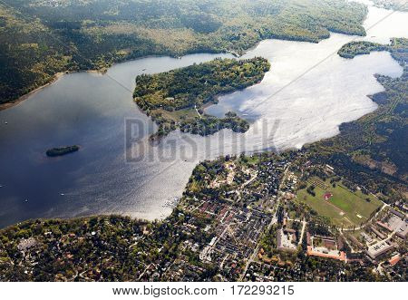 Aerial Of The Wannsee In Berlin