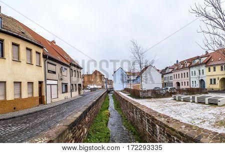 Panoramic View To Buildings In Eisleben