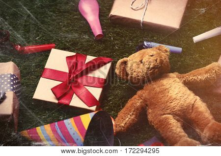 Party Decorations, Teddy Bear And Gifts