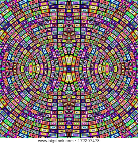 Mosaic geometric colorful background with optical effect