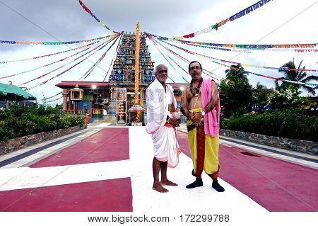 The Spiritual Leaders Of  Sri Siva Subramaniya Hindu Temple Nadi Fiji