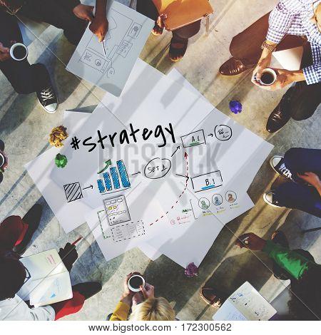 Achievement Strategy Business Discussion Idea