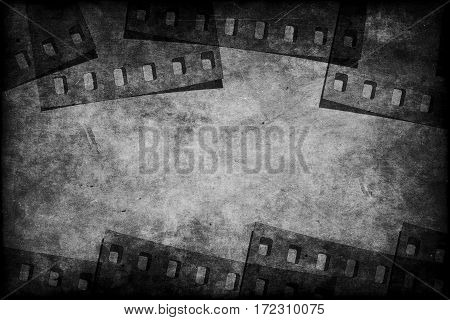 Grunge film monochrome background with spase for text