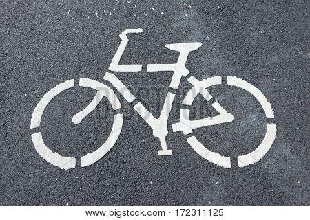 Green asphalt, Bike lane in the road for safety
