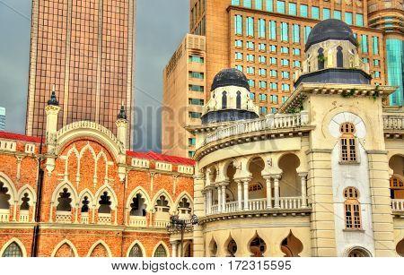 Panggung Bandaraya, City Theatre and the Old High Court Building on the Merdeka Square in Kuala Lumpur, Malaysia