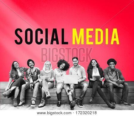 Social Media Network Internet Platform Word