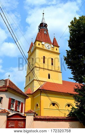 Medieval fortified church Cristian, Transylvania. The town was first mentioned in a letter written in 1420 by King Sigismund of Luxembourg.