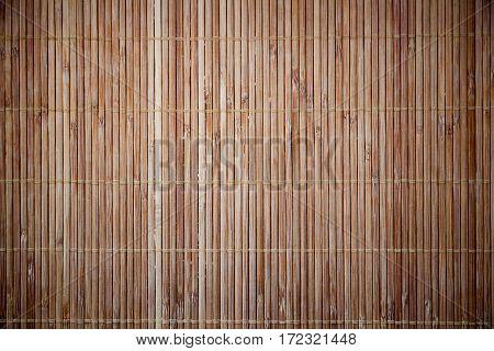 Bamboo napkin mat texture. Wood stripes background.
