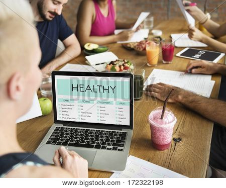 People meeting nutrition healthy lifestyle