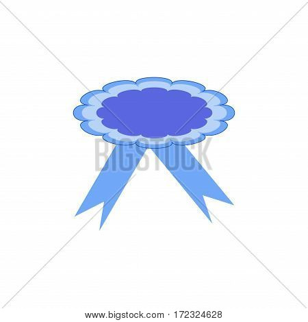 Ribbon award. Emblem modern symbol of award. Symbol reward winner. Accessory victory ceremonysuccess sport. Beautiful sign ceremony. Colorful template for badge. Design element. Vector illustration