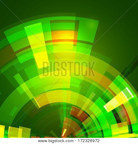 Abstract star background in green color. Futuristic technology style. Modern background for your presentations. Vector illustration
