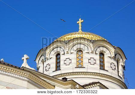 Dome of the Church of St. Vladimir. Hersonissos. Crimea