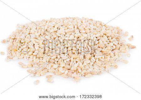 pile of pearl barley