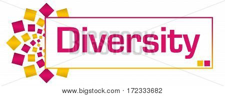 Diversity text written over pink gold background.