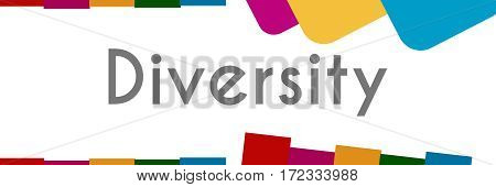 Diversity text written over abstract colorful background.