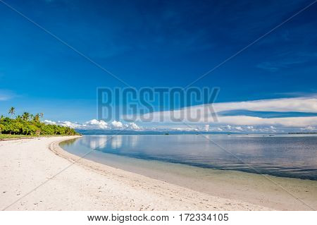 Beautiful beach on tropical island at Philippines
