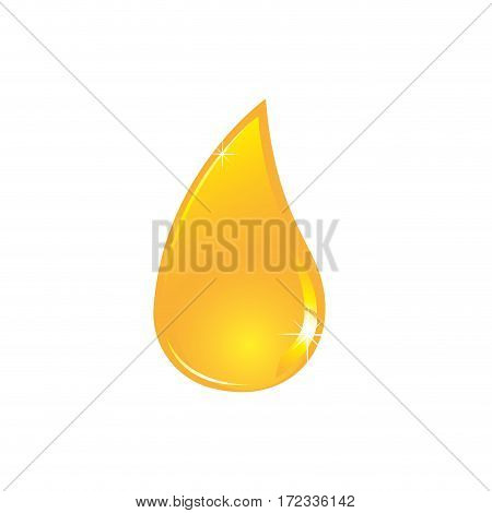 color silhouette with drop oil of closeup vector illustration
