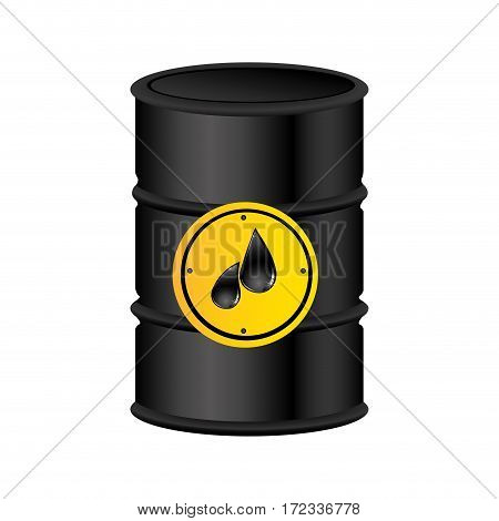 color silhouette with petroleum barrel vector illustration