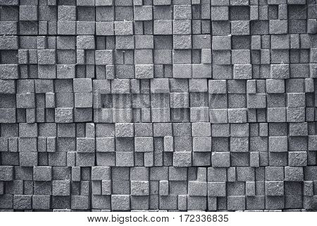 Abstract of concrete cube background for designer