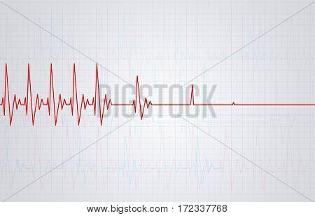 Heart Stops Pulsating Illustration
