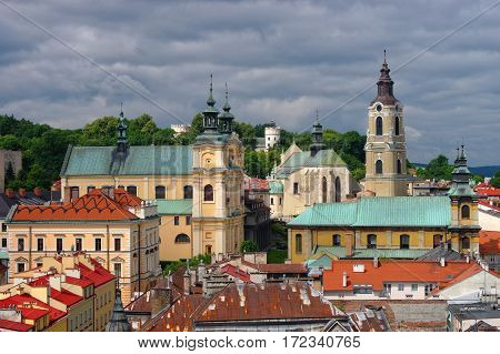 Aerial View Of Przemysl Town Center, Poland