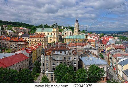 Aerial View Of Przemysl Town Center