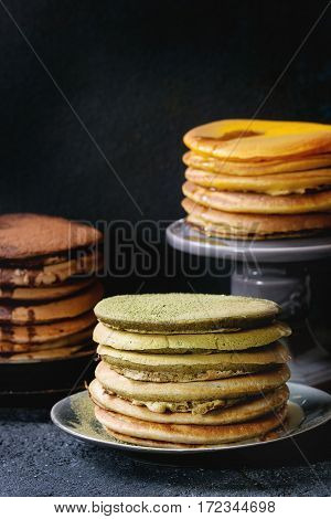 Variety Of Ombre Pancakes