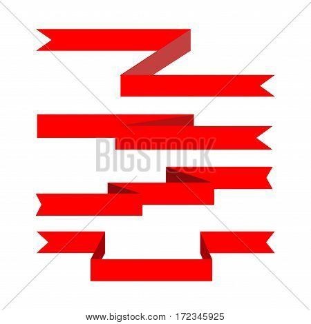 Ribbon award. Emblem modern symbol of award. Set blank sticker labeling. Elegant form of the logo for sale. Colorful template for badge tag wrapping etc. Design element. Vector illustration