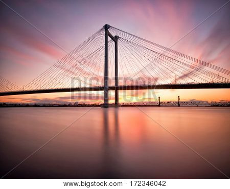Cable Bridge that connects Pasco and Kennewick in Washington State
