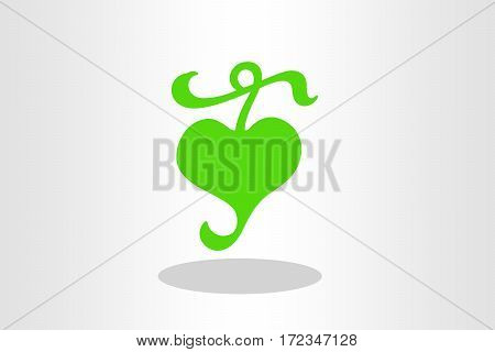 Illustration of Hedera leaf against plain background