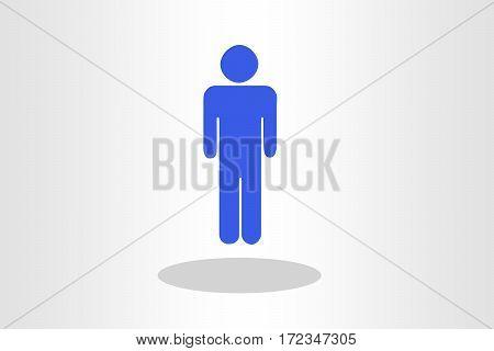 Illustration of human figurine on plain background