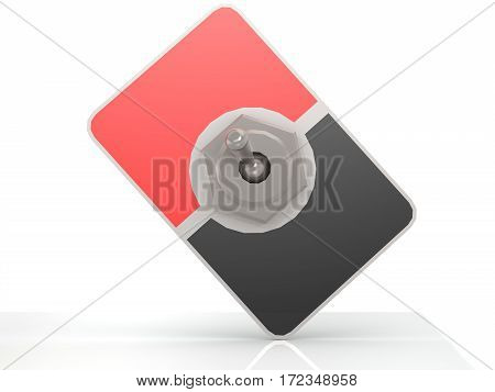 Blank Red And Black Toggle Switch