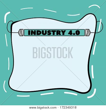 Hand written text frame with light and the words industry 4.0