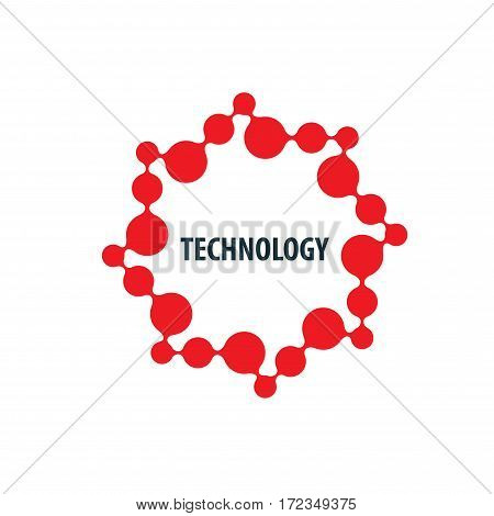 logo design template technology. Vector illustration of icon