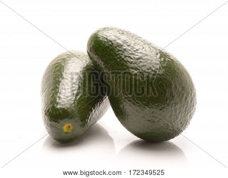 Fresh Avocado isolated on white background in studio