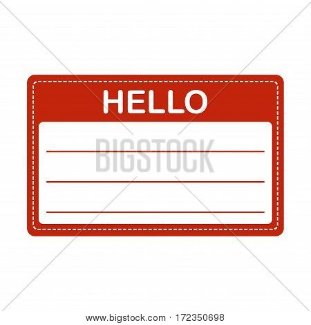Tag badge holder or name introduction label. Vector Illustration.