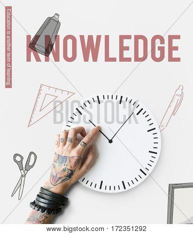 Knowledge Learning Academics Study Scissors Ruler