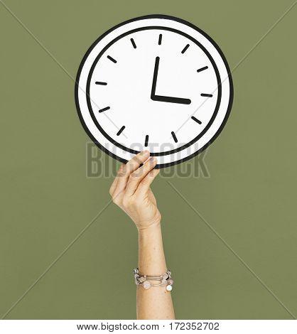 Human Hand Holding Clock Papercraft