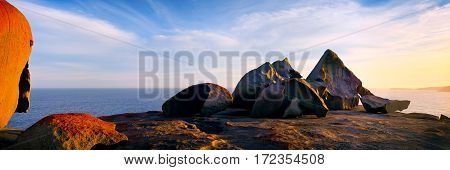 The Remarkable Rocks are located in Flinders Chase National Park on Kangaroo Island, a few hours drive south of Adelaide, South Australia, Australia.
