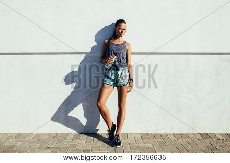Healthy Young Woman Resting After Workout