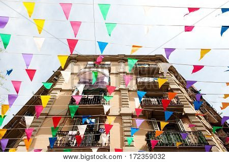 Barcelona Spain Europe - building facade and decorations in Barceloneta discrict
