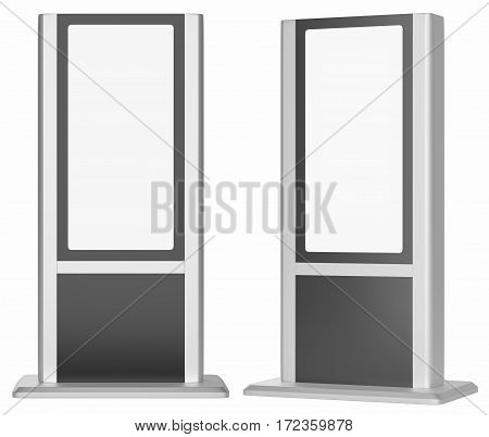 Blank Lightboxes. Isolated On White Background. 3D rendering. Template For Your Design