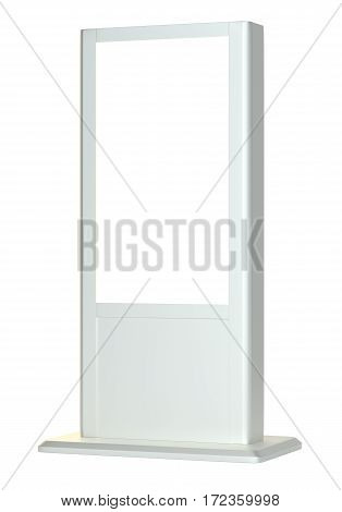 Realistic light box template on white background. 3D Illustration