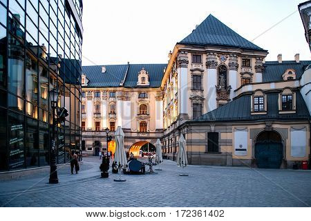 UWroclaw Poland - July 16 2014: Building of the University. European Capital of Culture 2016
