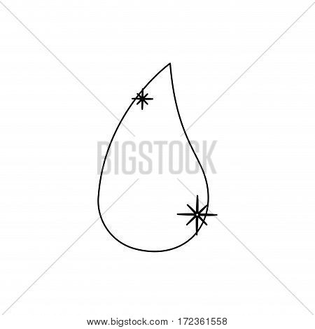 monochrome contour with drop fuel of closeup vector illustration