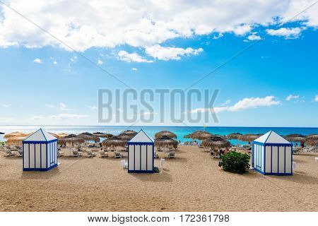 View On Beach And Ocean, Tropical Resort