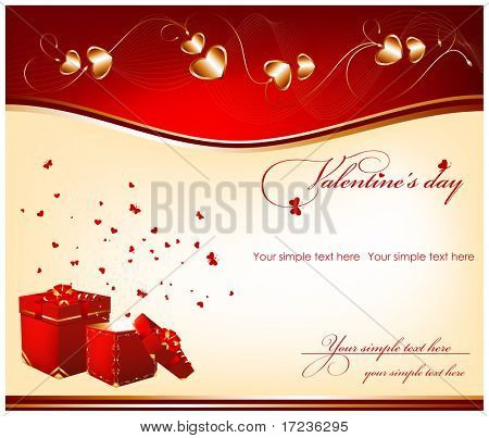 Vector holiday background. Valentine's day.