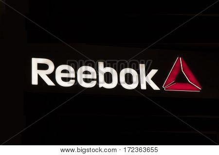 Letters Reebok In A Store