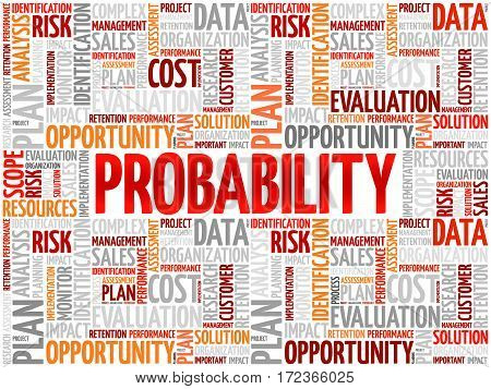 Probability Word Cloud Collage