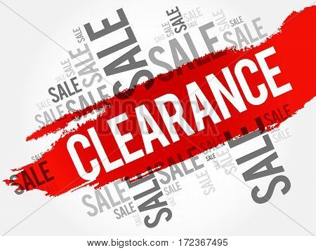 Clearance Sale Words Cloud